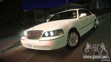 Lincoln Towncar 2010 für GTA San Andreas Seitenansicht