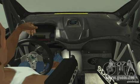 Ford Fiesta Rockstar Energy pour GTA San Andreas sur la vue arrière gauche