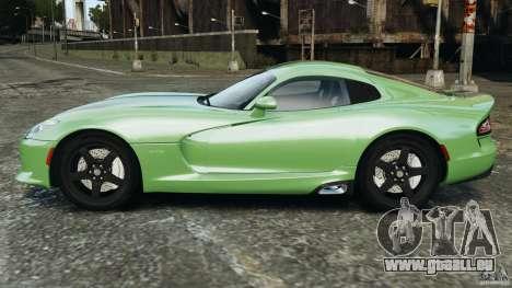 SRT Viper GTS 2013 pour GTA 4 est une gauche