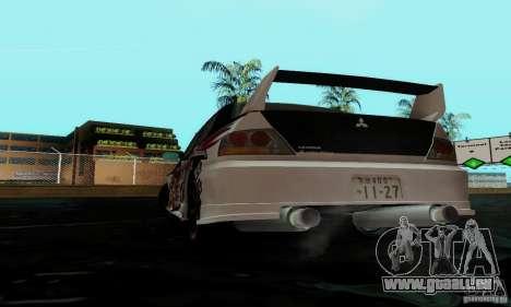 Mitsubishi Lancer Evolution IX pour GTA San Andreas vue de côté