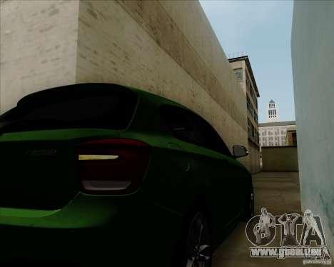 BMW M135i V1.0 2013 pour GTA San Andreas vue de dessus