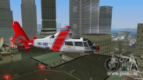 Eurocopter As-365N Dauphin II pour GTA Vice City sur la vue arrière gauche