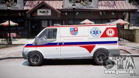 Ford Transit Polish Ambulance [ELS] pour GTA 4 est une gauche