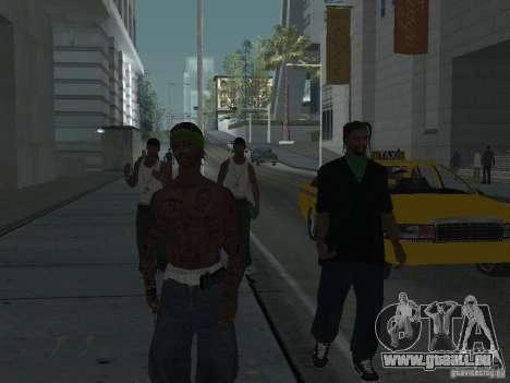Remplacer toutes les apparences de familles de G pour GTA San Andreas sixième écran