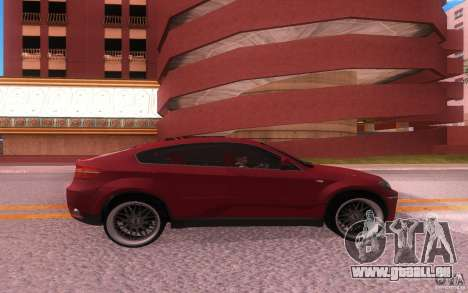 BMW X6 Tuning pour GTA San Andreas vue de droite