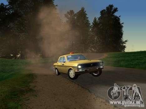 Taxi de Volga GAZ 24-10 pour GTA San Andreas sur la vue arrière gauche