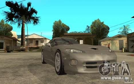 Dodge Viper GTS für GTA San Andreas Rückansicht