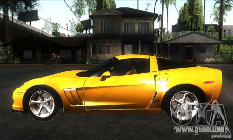Chevrolet Corvette Grand Sport 2010 pour GTA San Andreas laissé vue