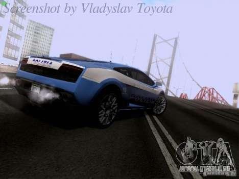 Lamborghini Gallardo LP560-4 Polizia für GTA San Andreas rechten Ansicht