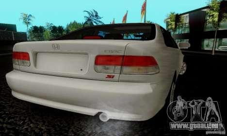 Honda Civic 1999 Si Coupe pour GTA San Andreas laissé vue