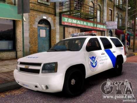 Chevrolet Tahoe New York Police für GTA 4 Rückansicht