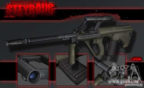 SteyrAug pour GTA San Andreas deuxième écran