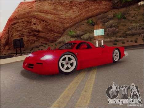Nissan R390 Road Car v1.0 pour GTA San Andreas laissé vue