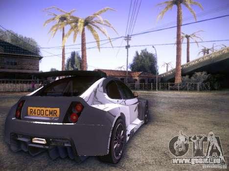 Colin McRae R4 pour GTA San Andreas sur la vue arrière gauche