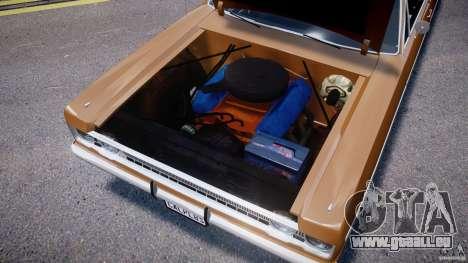 Plymouth Fury III Coupe 1969 pour GTA 4 est une vue de l'intérieur