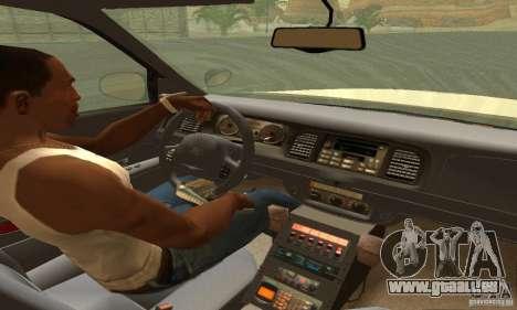 Ford Crown Victoria Washington Police für GTA San Andreas zurück linke Ansicht