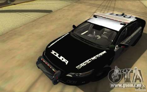 Ford Taurus 2011 LAPD Police für GTA San Andreas obere Ansicht