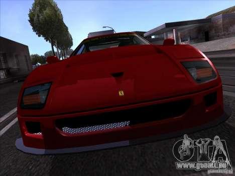 Ferrari F40 GTE LM für GTA San Andreas rechten Ansicht