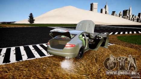 Jaguar XFR 2010 pour GTA 4 vue de dessus
