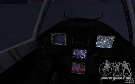 YF-23 pour GTA San Andreas vue arrière