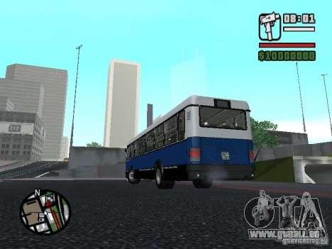 Ikarus 415.02 pour GTA San Andreas vue intérieure
