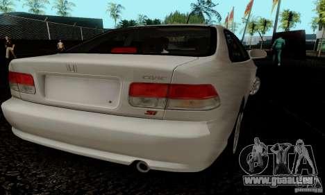 Honda Civic 1999 Si Coupe pour GTA San Andreas vue intérieure