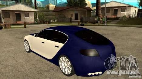 Bugatti Galibier 16c für GTA San Andreas zurück linke Ansicht
