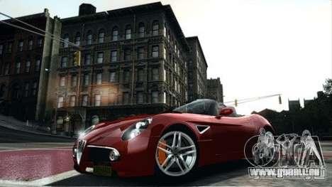 Alfa Romeo 8C Spyder pour GTA 4 est une gauche