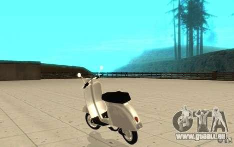 GTAIV EFLC Faggio Classic pour GTA San Andreas sur la vue arrière gauche
