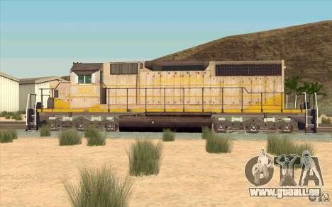 Clinchfield SD40 (Yellow & Grey) für GTA San Andreas linke Ansicht