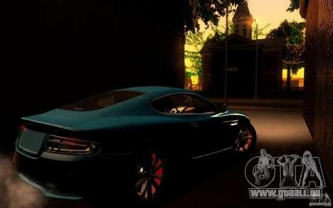 Aston Martin Virage V1.0 für GTA San Andreas Rückansicht