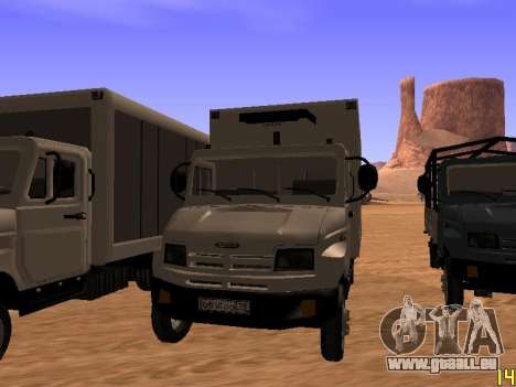 ZIL 5301 Goby für GTA San Andreas zurück linke Ansicht