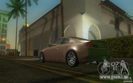 Infiniti G35 - Stock pour GTA San Andreas sur la vue arrière gauche