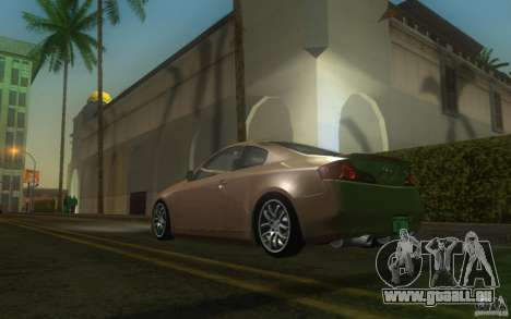 Infiniti G35 - Stock für GTA San Andreas zurück linke Ansicht