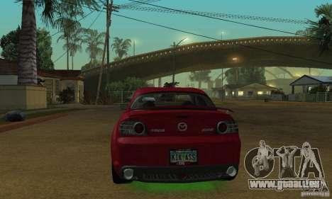 Les néons verts pour GTA San Andreas deuxième écran