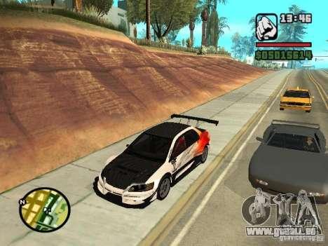 Mitsubishi Lancer Evo IX SpeedHunters Edition pour GTA San Andreas vue de droite