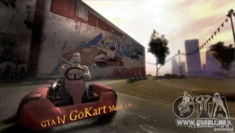 GoKart Mod 1.0 pour GTA 4 Vue arrière de la gauche