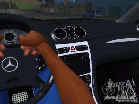 Mercedes-Benz CLK55 AMG pour GTA San Andreas vue de dessus