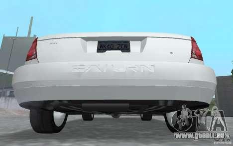 Saturn Ion Quad Coupe pour GTA San Andreas vue arrière