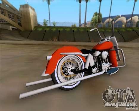 Harley-Davidson FL Duo Glide 1961 (Lowrider) pour GTA San Andreas sur la vue arrière gauche