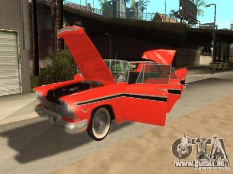 Plymouth Belvedere Sport sedan pour GTA San Andreas sur la vue arrière gauche
