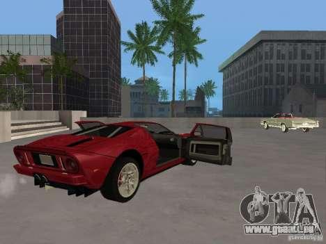 Ford GT pour GTA San Andreas vue intérieure