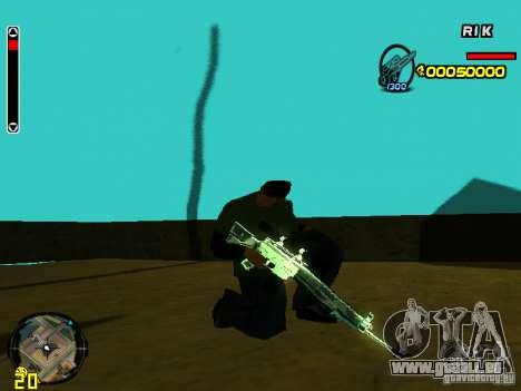 Blue weapons pack pour GTA San Andreas troisième écran