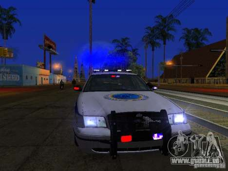 Ford Crown Victoria Police Interceptor 2008 pour GTA San Andreas vue de dessus