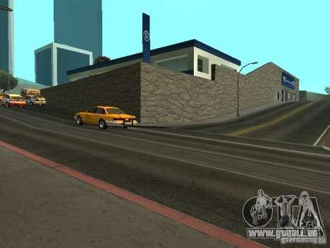 Auto Show Ford pour GTA San Andreas troisième écran