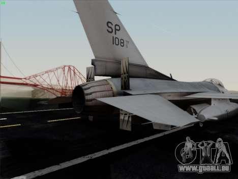 F-16C Warwolf pour GTA San Andreas moteur