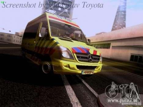 Mercedes-Benz Sprinter Ambulance pour GTA San Andreas laissé vue