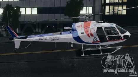 Eurocopter AS350 Ecureuil (Squirrel) Malaysia pour GTA 4 Vue arrière de la gauche