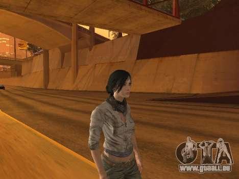 FaryCry 3 Liza Snow pour GTA San Andreas deuxième écran