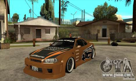 Nissan Skyline GTR - EMzone B-day Car pour GTA San Andreas